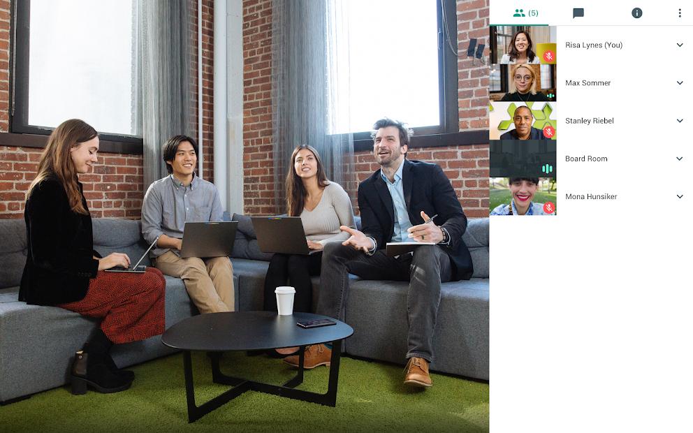 Hangouts Meet Screenshot